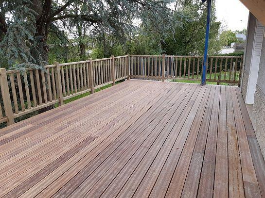 Terrasse bois terminée