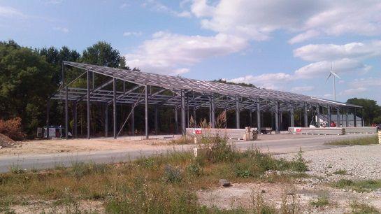Bâtiment de stockage en construction